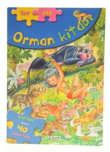 Çiçek Yayıncılık Yap-Boz Çıkartmalı Masallar-Orman Kitabı Renkli